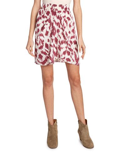Yegart Ikat-Print Silk Skirt