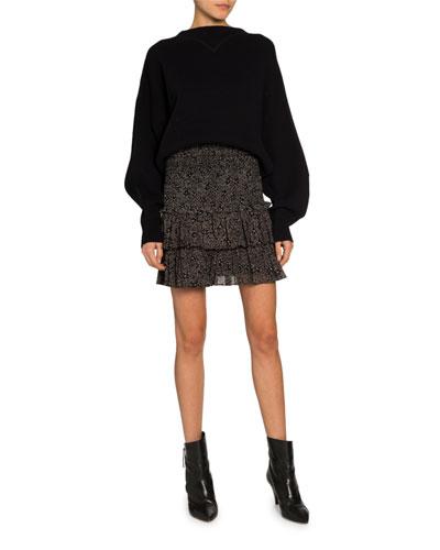 Karl Boat-Neck Cotton-Wool Sweater