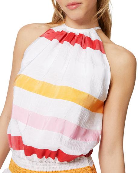 Paris Sleeveless Striped Dress
