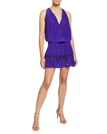 Kai Sleeveless Grommet Mini Dress