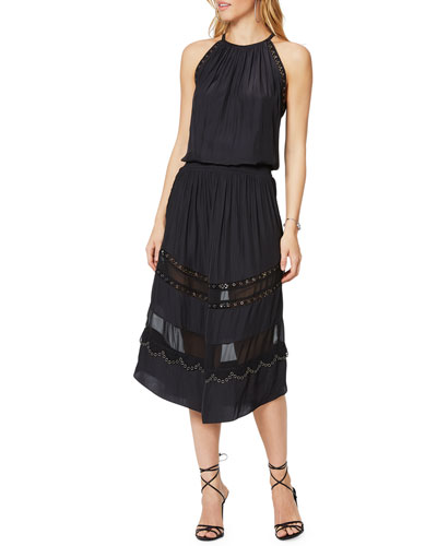 Pierson Sleeveless Grommet Midi Dress