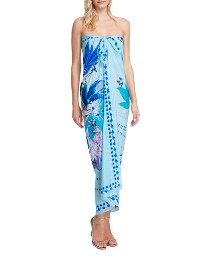 Paradise Printed Pareo Coverup