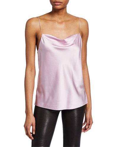 The Axel Frose Cowl-Neck Silk Camisole