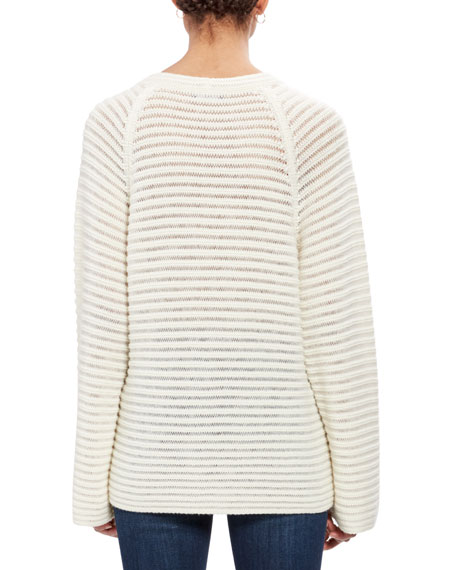 Cashmere Striped Pullover Sweater