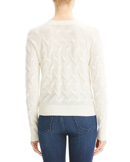 Tucked Crewneck Cashmere Sweater