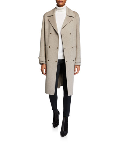Double-Faced Military Trench Coat