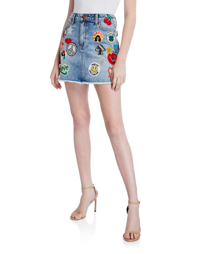 25d9266e96212 Good High-Waist Patched Skirt Quick Look. ALICE + OLIVIA JEANS