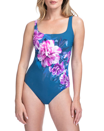 Fiji Floral Square-Neck One-Piece Swimsuit