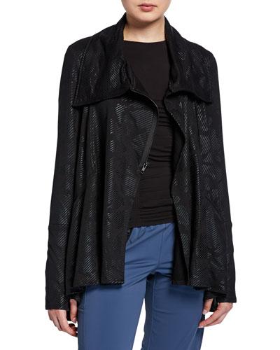 Camo French Terry Drape Jacket