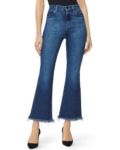 5ec4ce7ec65 Julia High-Rise Flare Jeans with Shredded Hem Quick Look. J Brand