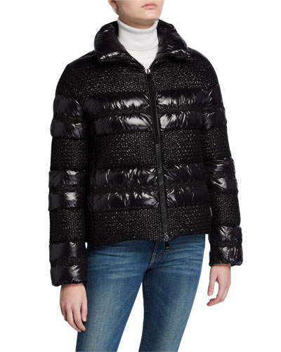 Dordogne Tweed & Puffer Coat