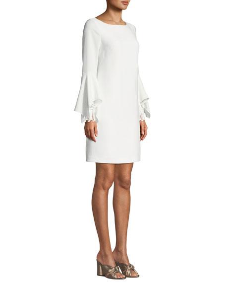 11e2e3e0dac7 Elie Tahari Dori Boat-Neck Flared-Sleeve Sheath Dress
