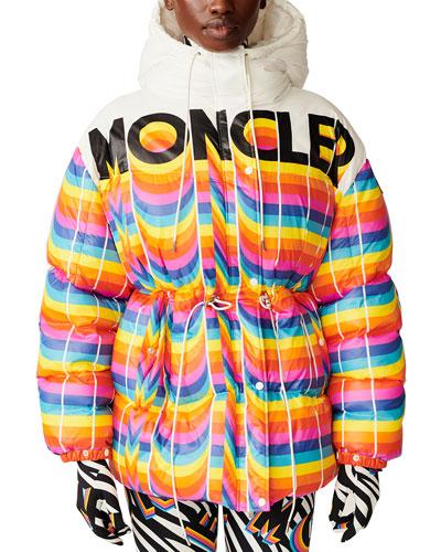 Richard Quinn Hooded Rainbow Jacket