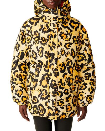 Richard Quinn Hooded Leopard Jacket