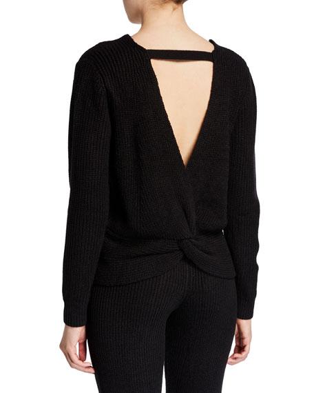 Ballet Twist-Back Sweater