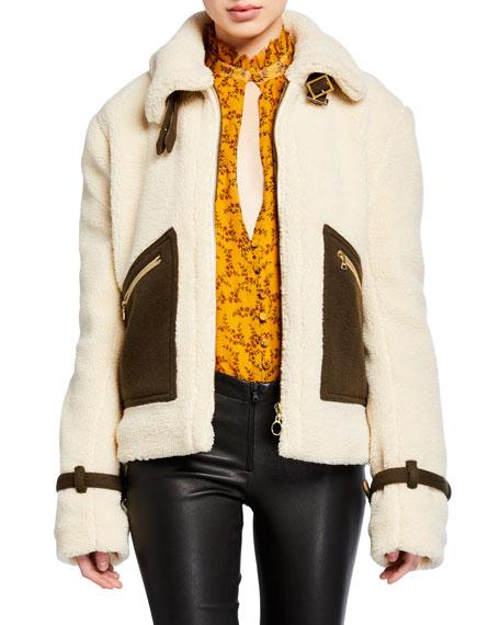 Zip-Front Sherpa Jacket