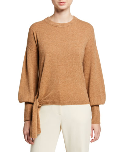 Clerisa Tie-Front Cashmere Sweater