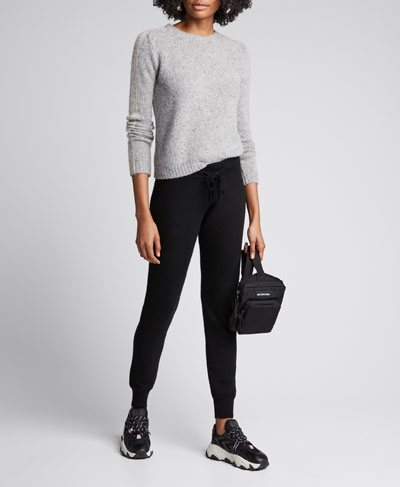 Crewneck Long-Sleeve Cashmere Sweater