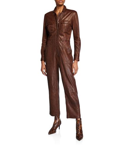 Artemis Leather Utility Jumpsuit