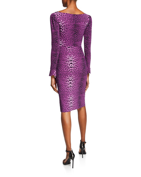 Darsey Leopard-Print Cocktail Dress