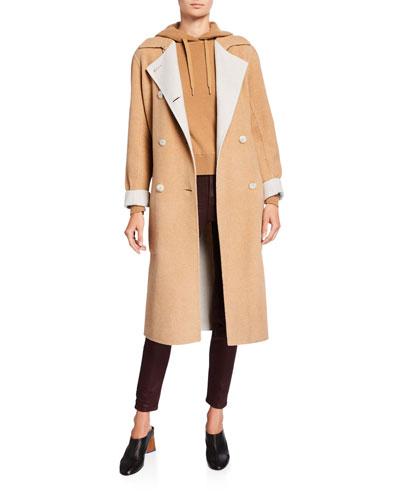 Rach Reversible Wool Belted Coat