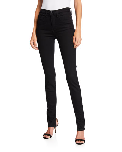 Kate High-Rise Skinny Jeans with Splits