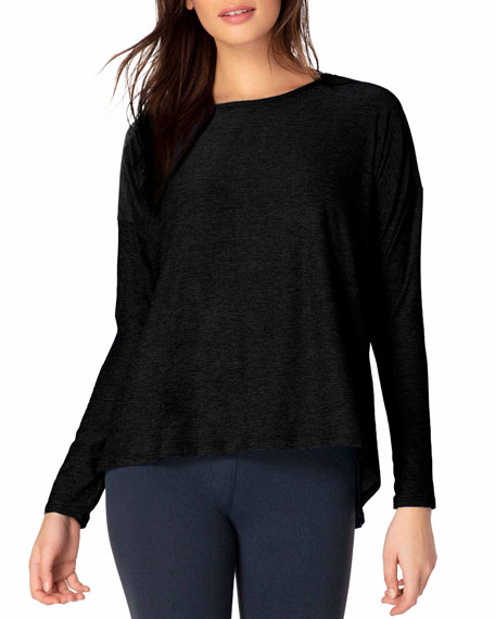 Draw The Line Tie-Back Long-Sleeve Top