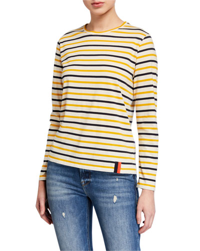 The Modern Long-Sleeve Striped Top