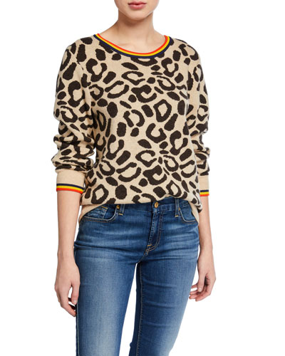 The Stevens Leopard-Print Sweater