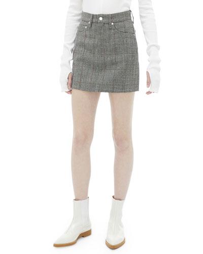 Femme Plaid High-Rise Mini Skirt