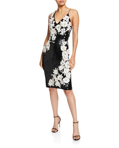 e57e2d32b Francie Sequin & Flower Short Gown Quick Look. Alice + Olivia