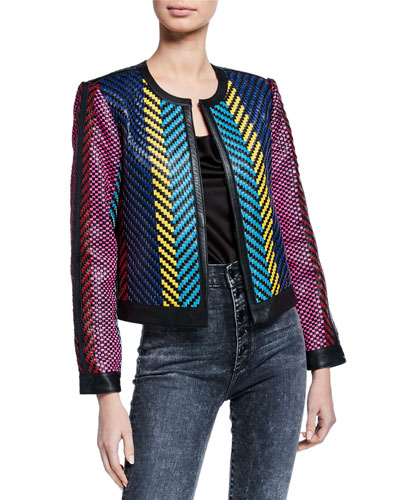 Kidman Woven Leather Jacket