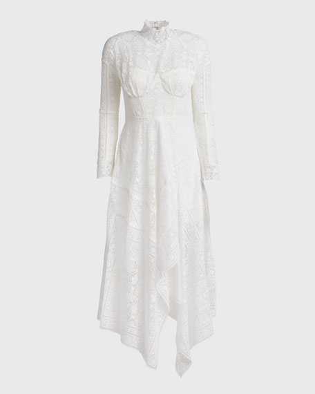 Scarf Embroidered Handkerchief Bustier Dress