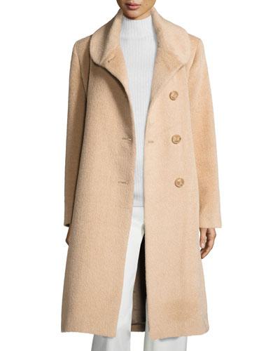 2bd0e60070 Round-Collar Button-Front Midi Suri Alpaca Coat Quick Look. Sofia Cashmere