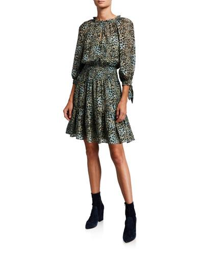 Lynx Silk Burnout Dress