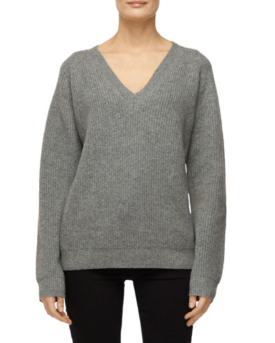 Jayla V-Neck Wool-Cashmere Sweater