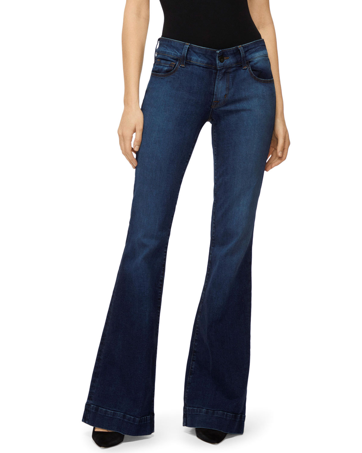 detailed pictures select for official new appearance Loverstory Mid-Rise Flare-Leg Jeans