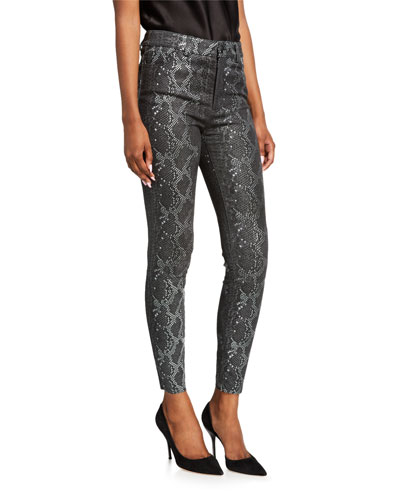 Mikah Leather High-Rise Skinny Pants