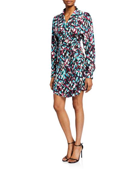 Mari Printed Short Wrap Dress