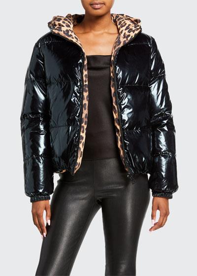 Durham Printed Reversible Hooded Puffer Jacket