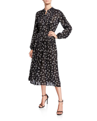 Raquel Printed Metallic Shirt Dress