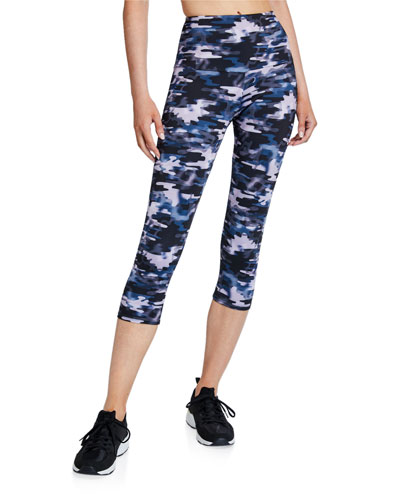 High Rise Capri Pants  Stormy Camo