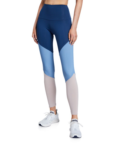High Rise Track Leggings  Pebble Combo
