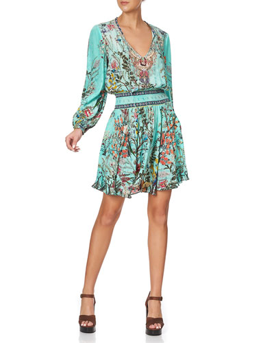 Shirred Relaxed Short Dress