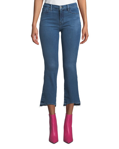 a5702da5e83 Selena Mid-Rise Cropped Boot-Cut Jeans with Released Hem Quick Look. J Brand