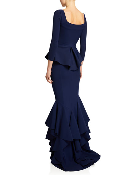 Mariaely Sweetheart 3/4-Sleeve Mermaid Dress