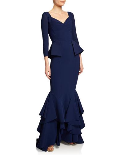 660a90f3941537 Mariaely Sweetheart 3/4-Sleeve Mermaid Dress Quick Look. Chiara Boni La  Petite Robe