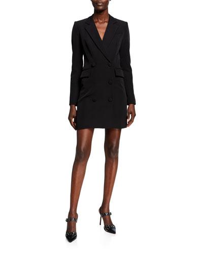Double-Breasted Blazer Mini Dress