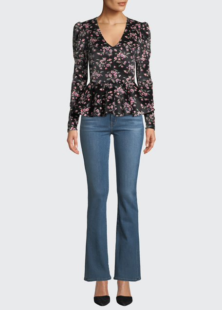 Image 1 of 1: Sallie Mid-Rise Boot-Cut Jeans