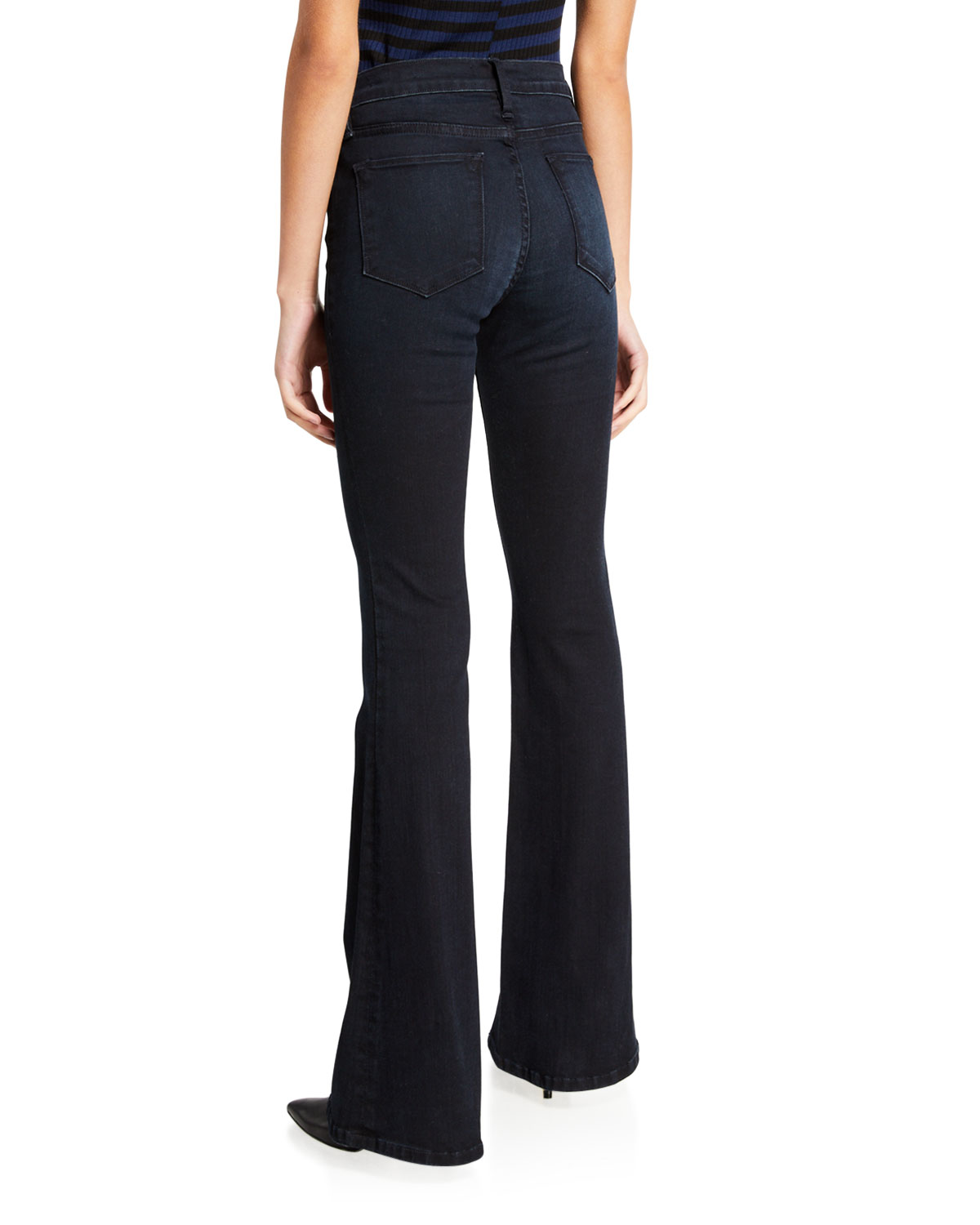 High Rise Flare Leg Jeans by Frame